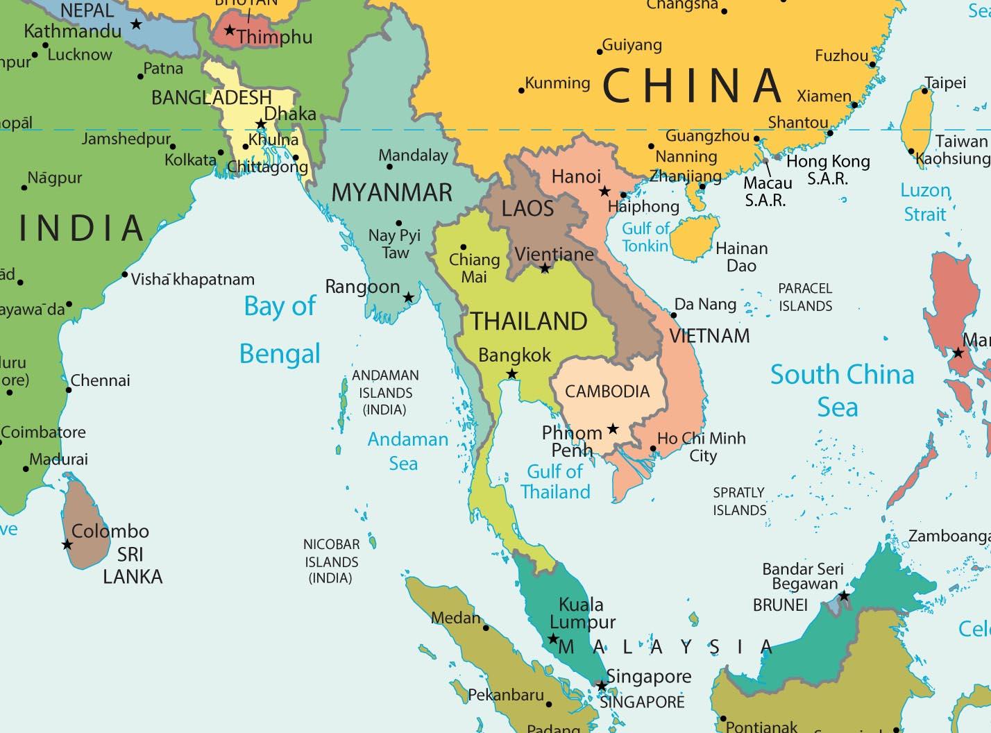 Weltkarte der Reiseziele